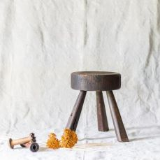 https://lootfinergoods.com/collections/decor/products/dark-brown-primitive-milking-stool?utm_medium=Social&utm_source=Pinterest