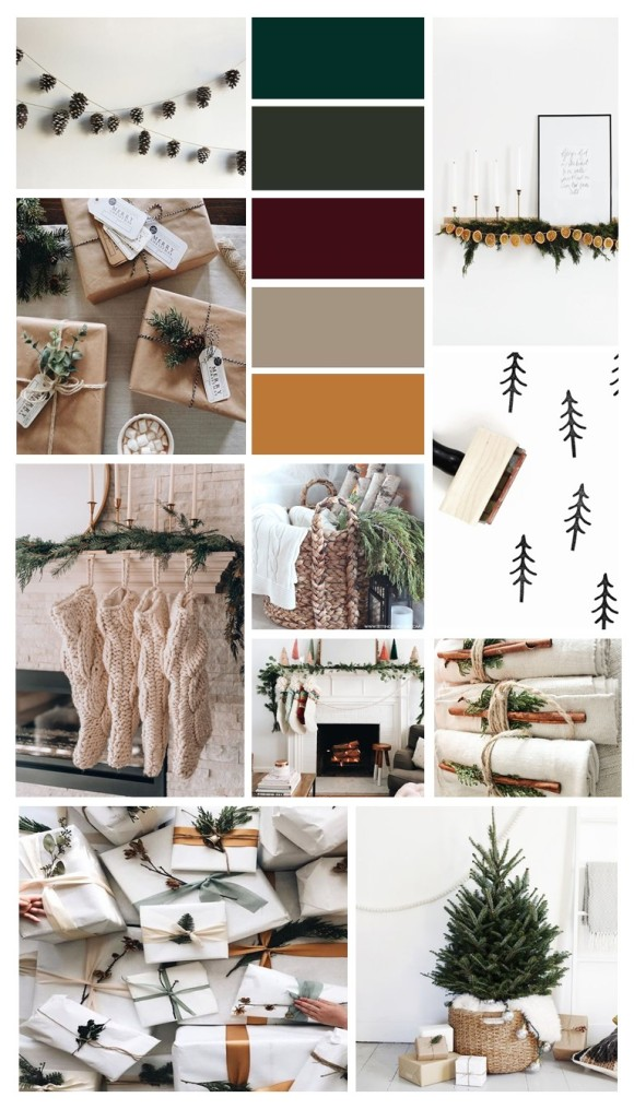 emily christmas mood board